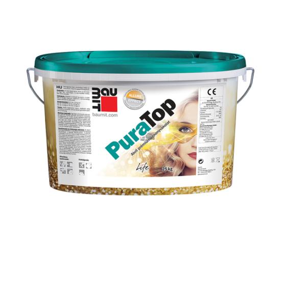 Baumit PuraTop Intenzív - extra sötét - Dörzsölt 2mm akril vakolat 25kg