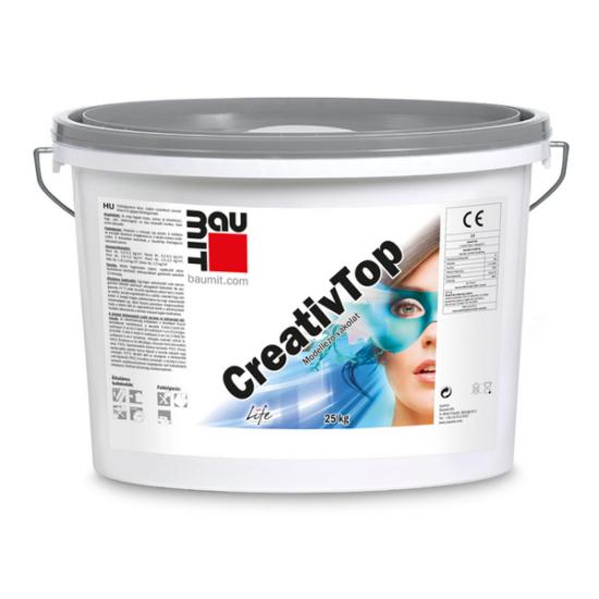 Baumit CreativTop Fine I. színcsoport szilikon kötőanyagú modellező vakolat 25 kg