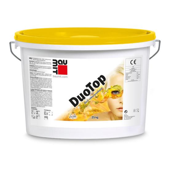 Baumit DuoTop 3.színcsoport műgyanta kötőanyagú Kapart 1,5 mm homlokzati vakolat  - 25kg/vödör