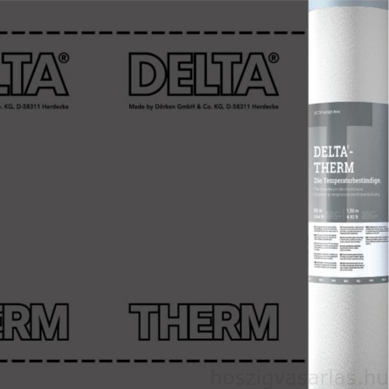 Dörken Delta Therm Plus páraáteresző tetőfólia ragasztósávval fémlemez fedés alá 75m2/tekercs